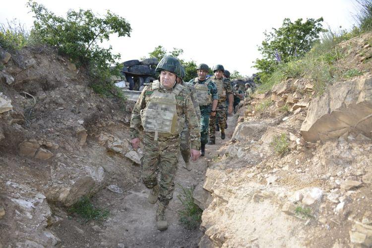 DSX və Ədliyyə generalları Ermənistanla sərhədə getdi (FOTO)