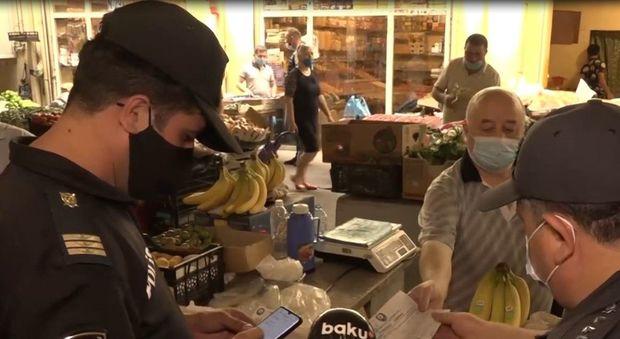 """""""Vosmoy bazarı""""nda karantin reydi keçirildi - VİDEO"""