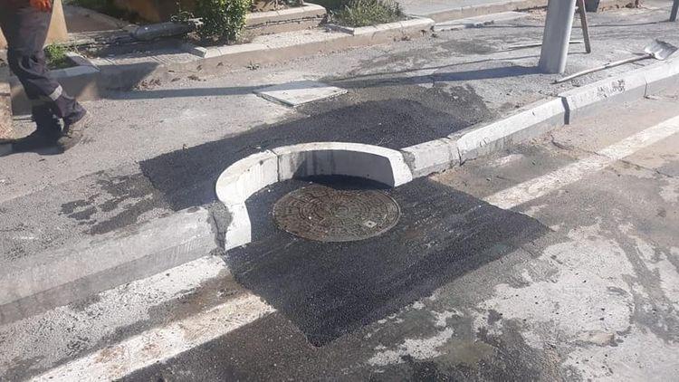 Paytaxtda asfalt örtüyü çökdü - FOTO