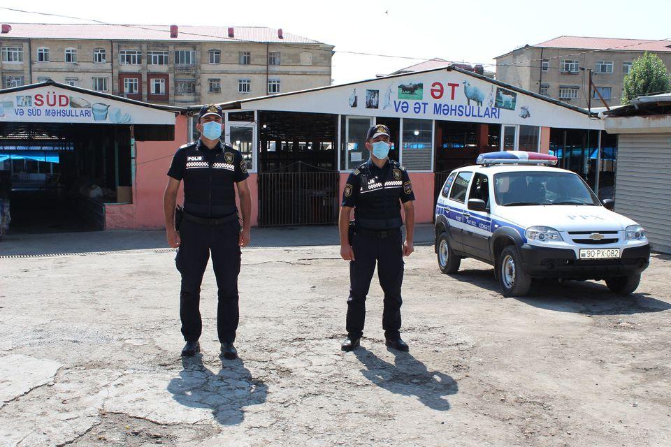 """Polis """"Şəki Bazarı""""nda mühafizəni GÜCLƏNDİRDİ"""