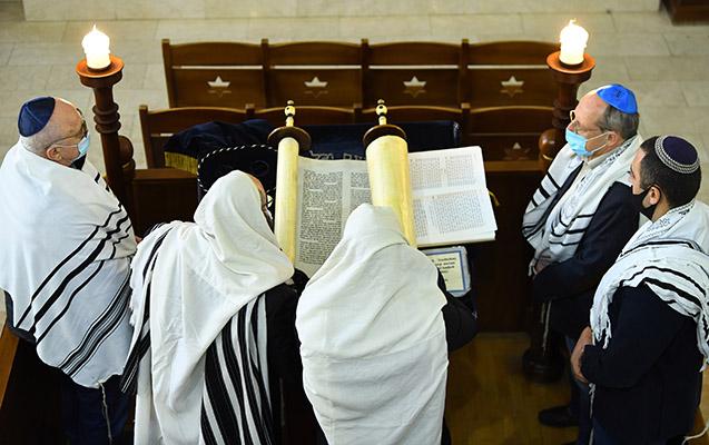 Bakıdakı sinaqoqda ordumuz üçün dualar edildi - FOTO