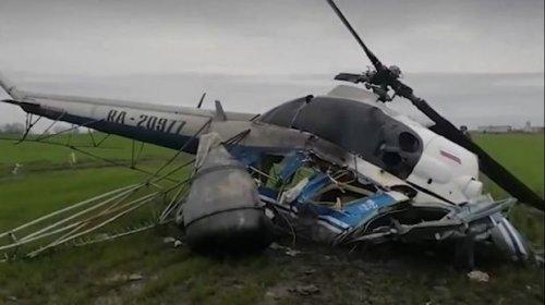 Rusiyada helikopter qəzaya uğrayıb: Ölən var - VİDEO