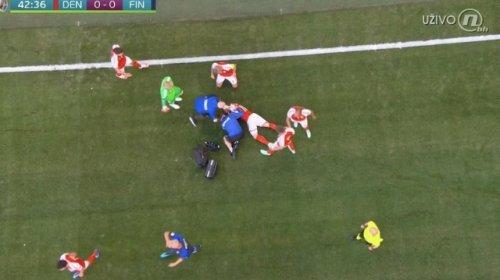 Futbolçu meydanda huşunu itirdi, oyun dayandırıldı - VİDEO/YENİLƏNİB